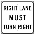 right lane US
